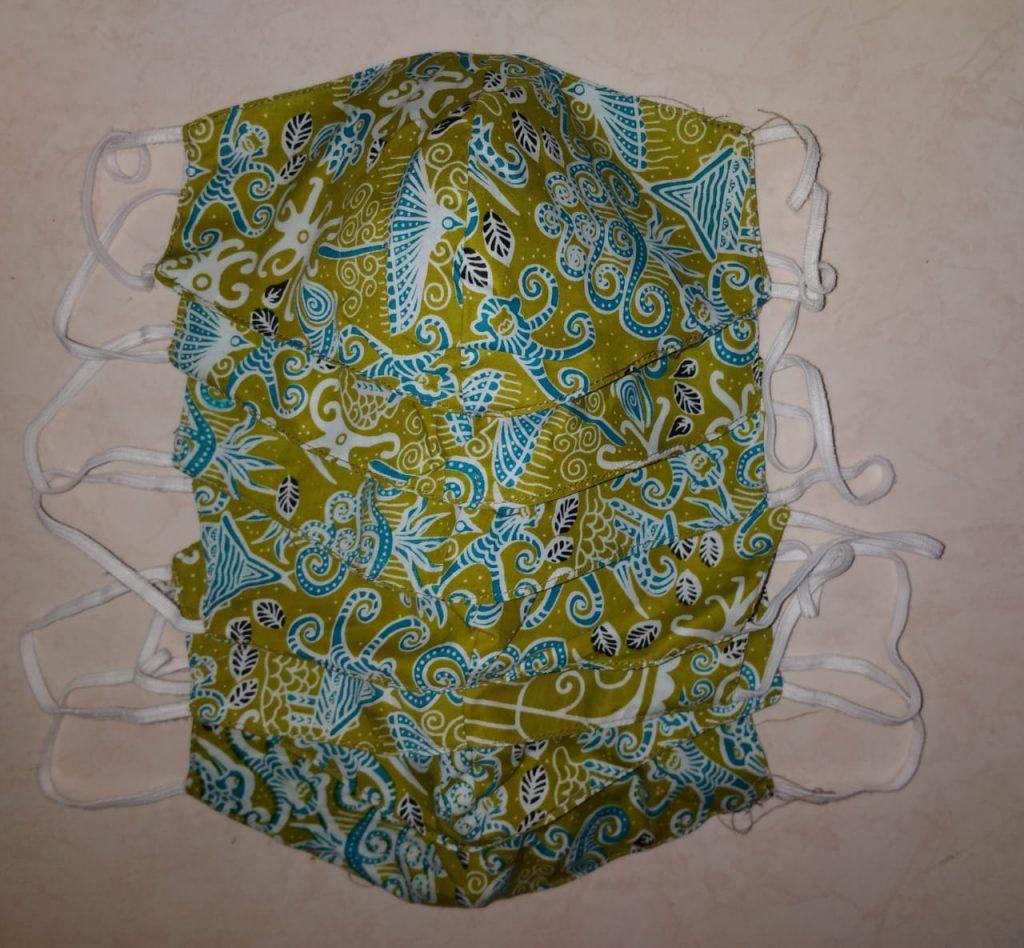 Desain Jual Masker Batik Motif Custom
