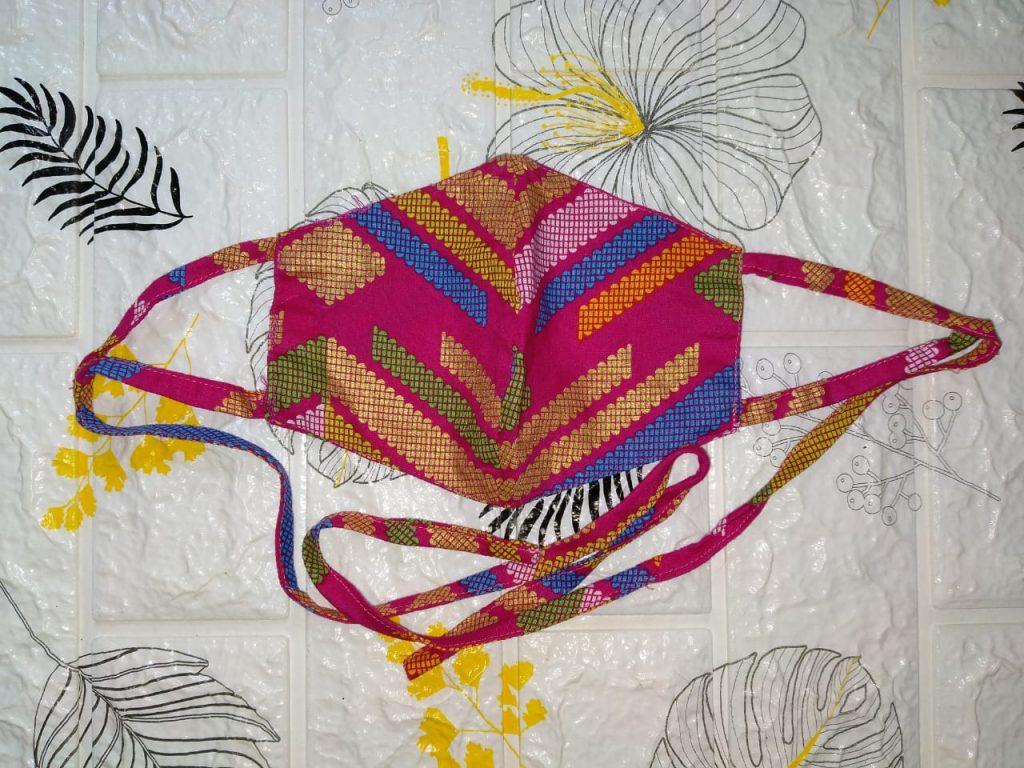 Masker Hijab Tie- Di Jual Masker Batik Motif Custom