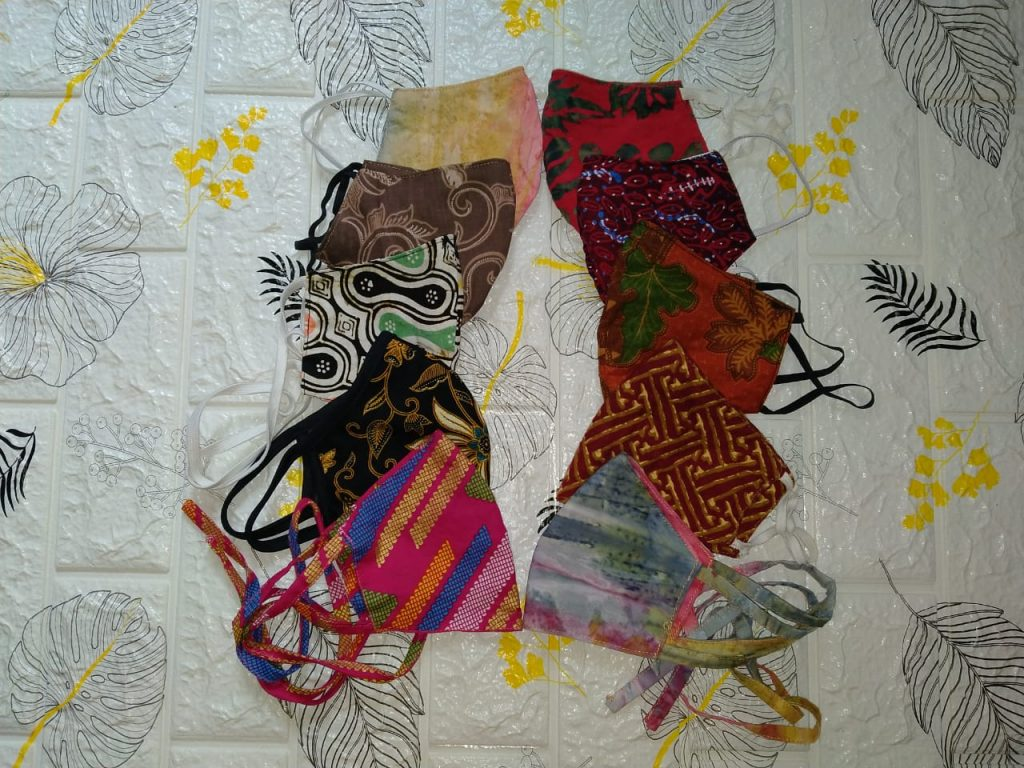 Jual Masker Batik Motif Custom