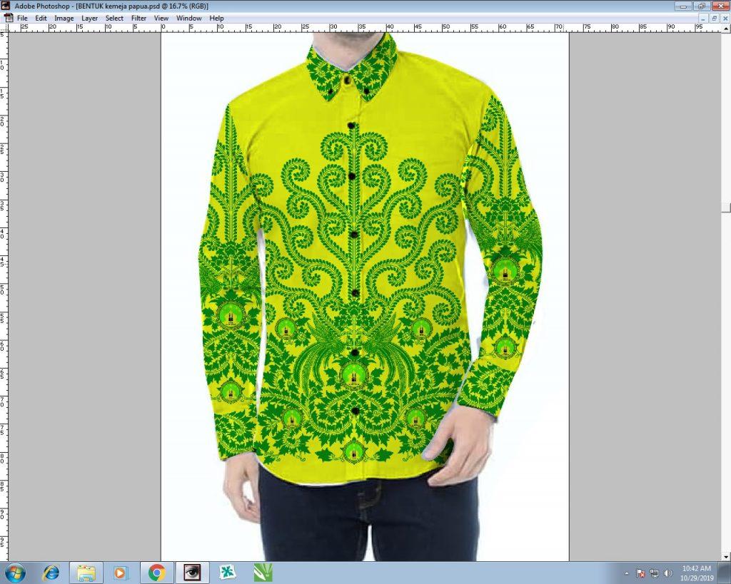 Contoh Desain Kemeja Batik Printing Seragam Kantor