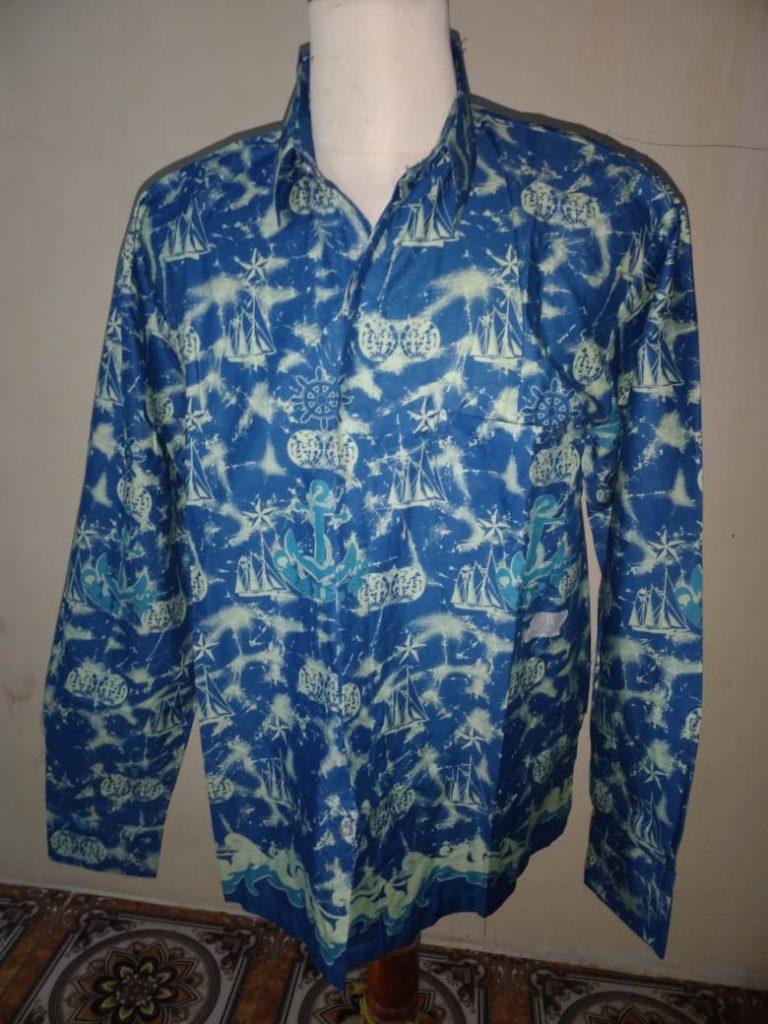 Produk Kemeja Batik Printing Model Lengan Panjang