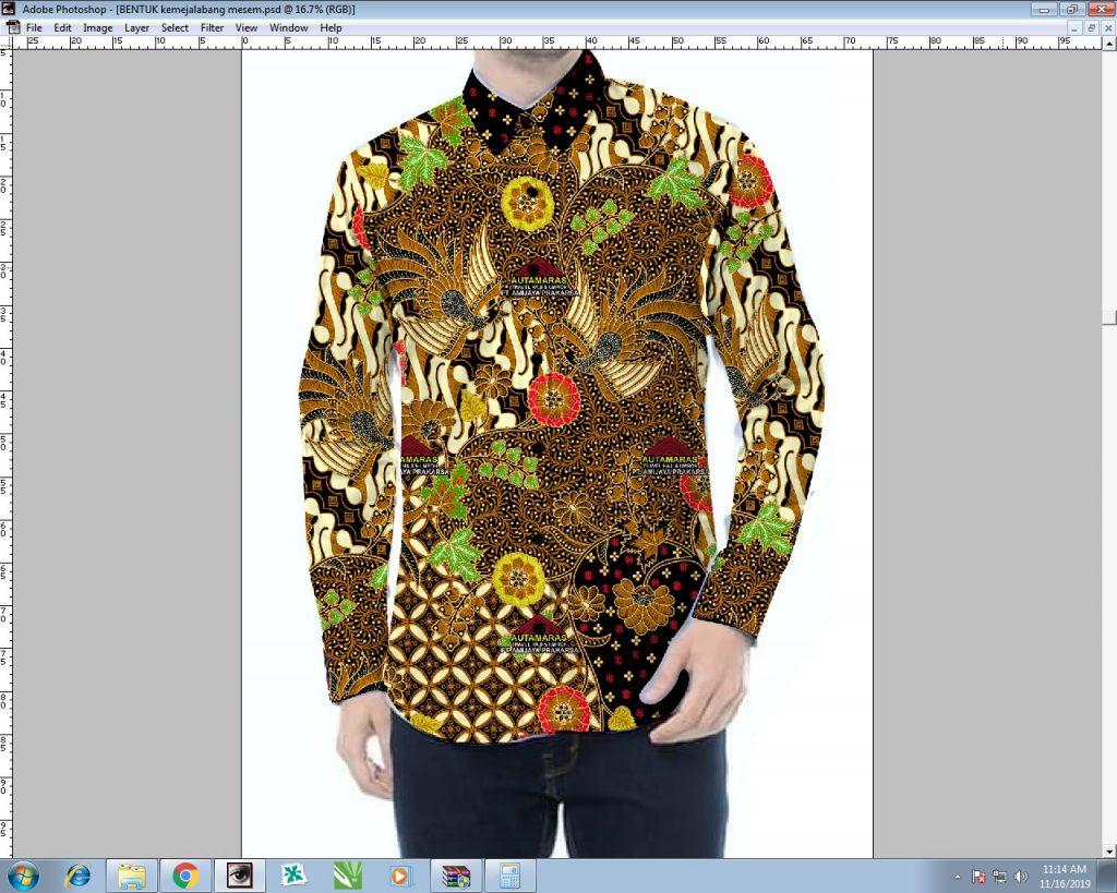 Desain Produk Kemeja Batik Printing Modern