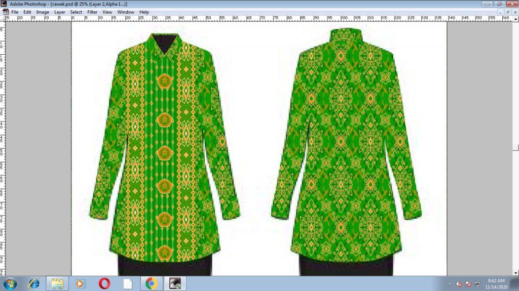 Contoh Desain Produk Pakaian Batik