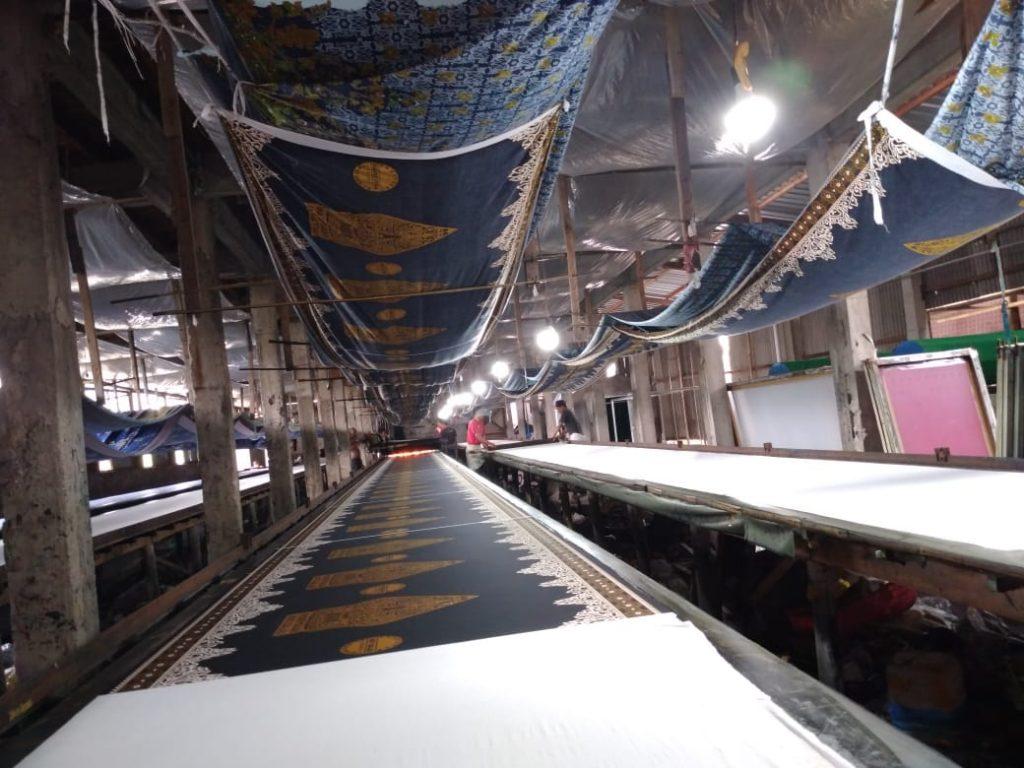 Proses Produksi Sarung Batik Bahan Rayon